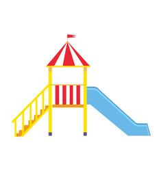 Children s slide for playground on white backfit vector