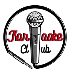 Color vintage karaoke emblems vector image