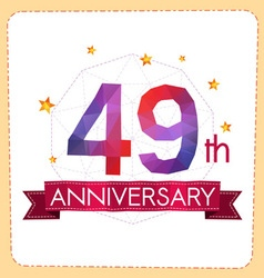 Colorful polygonal anniversary logo 2 049 vector