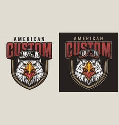 Colorful vintage animal biker mascot logo vector