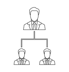 Company structure icon outline style vector