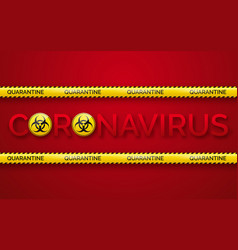 danger tape quarantine zone biohazard signs vector image