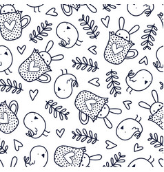 doodles pattern vector image