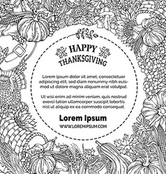 Doodles Thanksgiving background vector