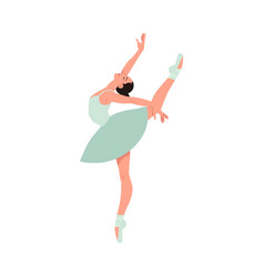elegant ballerina in tutu dress dancing vector image
