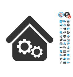 Factory house icon with free bonus vector