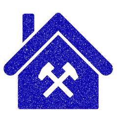 Factory icon grunge watermark vector