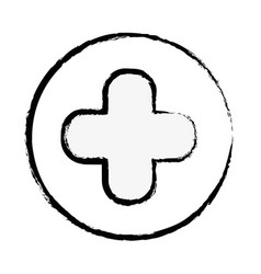 Figure cross clinic symbol to healthcare people vector