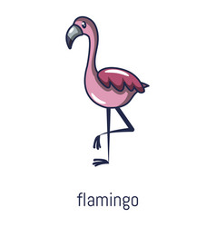 Flamingo icon cartoon style vector