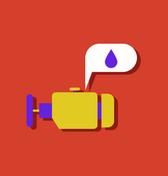 Flat icon design collection engine and oil in vector