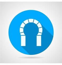Flat round icon for brick horseshoe arch vector