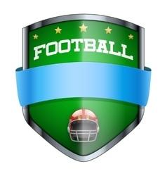 Football Shield badge vector