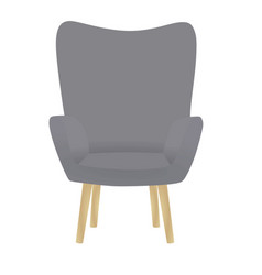 grey chair vector image