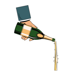 hand serving champagne vector image