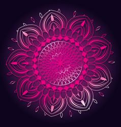 Happy diwali card with mandala vector