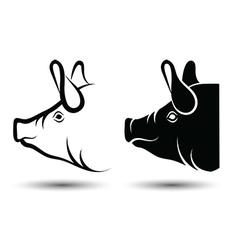 Head pig vector image