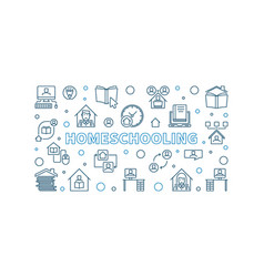 homeschooling outline education concept vector image