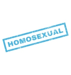 Homosexual Rubber Stamp vector