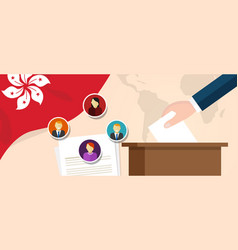 hongkong democracy election vote candidate vector image