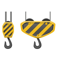 Hook for building crane 02 vector