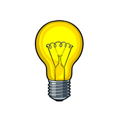 Lamp shine pop art vector