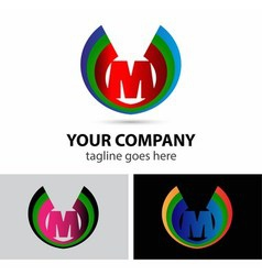 Letter M logo icon design template elementssymbol vector