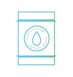 line water tank to environment care vector image