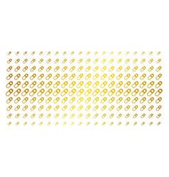 Love granule golden halftone array vector