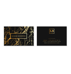 Luxury business cards banner and cover with vector