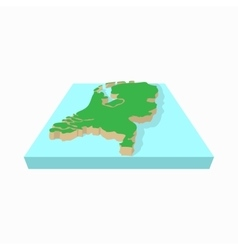 map netherlands icon cartoon style vector image