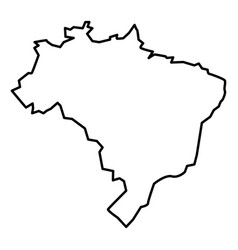 map of brazil icon black color flat style simple vector image