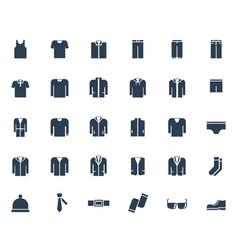 men39s clothing icon set vector image