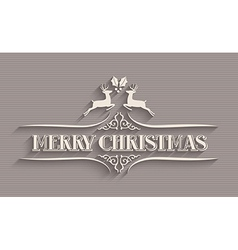 Merry christmas typographic postcard vector