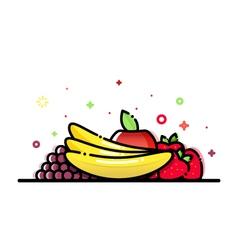 Mixed Fruits vector