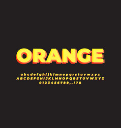 Modern layered orange and yellow font effect vector
