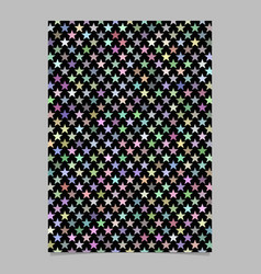 Multicolored star shape pattern background vector