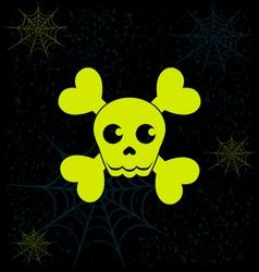 Neon skull Halloween graphics vector
