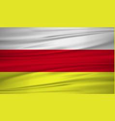north ossetia flag flag of north ossetia blowig vector image