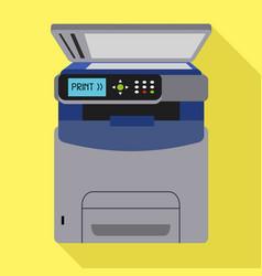 Office xerox printer icon flat style vector