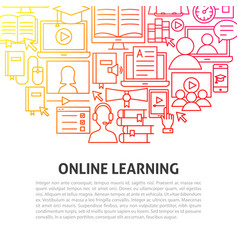 online learning line concept vector image