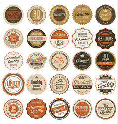 retro badges collection vector image