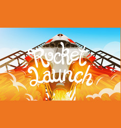 rocket launch international spaceship shuttle in vector image vector image