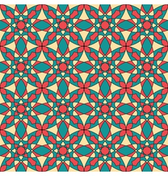 Seamless colorful retro pattern vector image