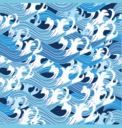 seamless graphic pattern sea waves vector image