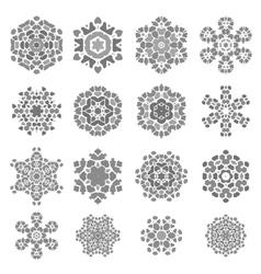 Set of Grey Stone Rosettes vector image