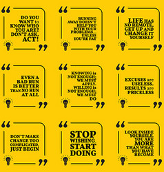 Set of motivational quotes about responsibility vector image