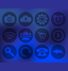 Set of transparent icons for mobile devices vector