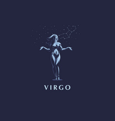 sign of the zodiac virgo vector image