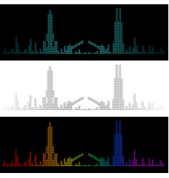sound graph style chicago skyline vector image
