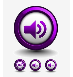 speaker web icon vector image